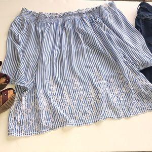 Mercer & Madison Striped Blouse Size 2X—WB01